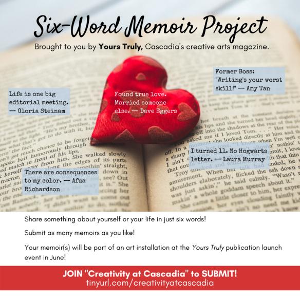 six-word memoir project graphic